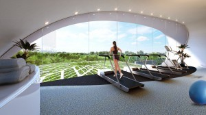 Modern gym in Kingsford Hillview Peak | Condosingapore