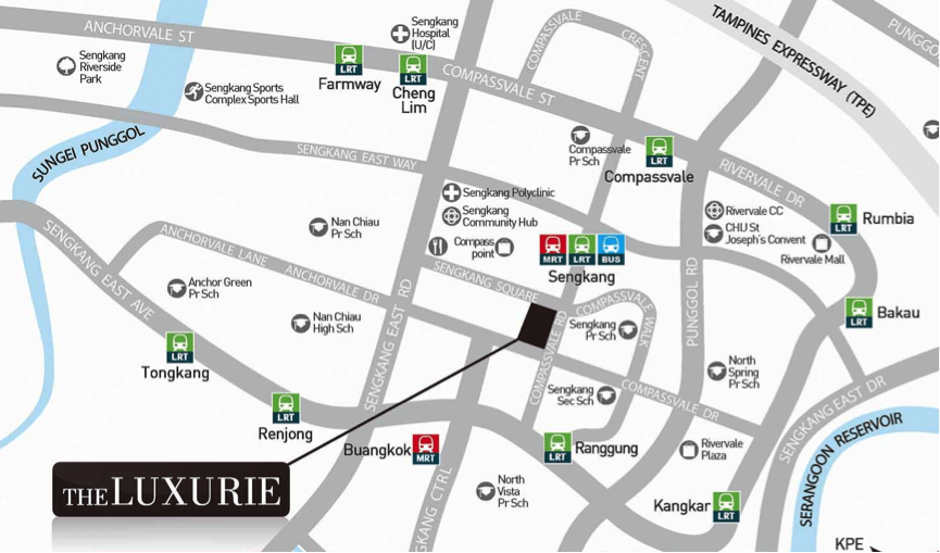 The Luxurie Site Map and plan