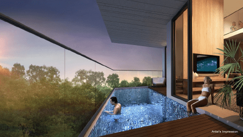 A pool within your home at Daisy Suites