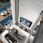 HIgh ceiling in Daisy Suites where spaces are maximised efficiently