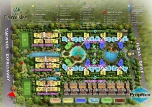 Palm Isles siteplan