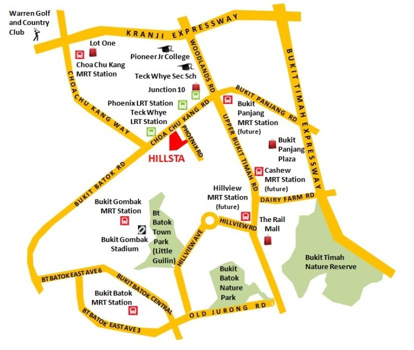 Hillsta-CondoSingapore Location map and plan