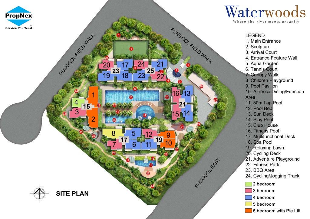 Punggol EC Site Plan
