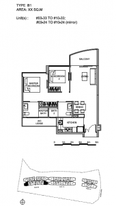 Hillview Peak 2 bedroom floor plan