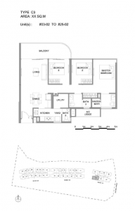 Hillview Peak 3 bedroom  floor plan