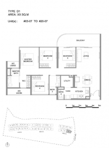 Hillview Peak 4 bedroom floor plan