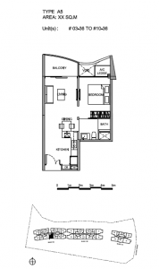 Hillview Peak 1 bedroom floor plan