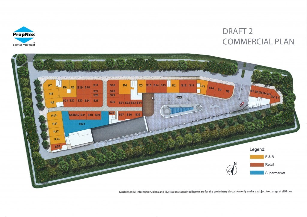 Kensington Square commercial Site Plan | Condosingapore
