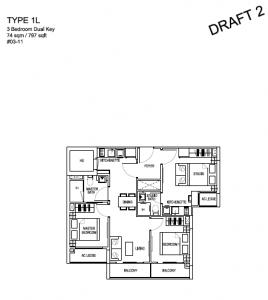 Kensington Square Residential 3 Bedroom Dual Key   Condosingapore