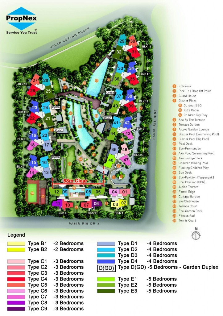 Sea Horizon Executive Condo Site map | Singapore Executive Condo
