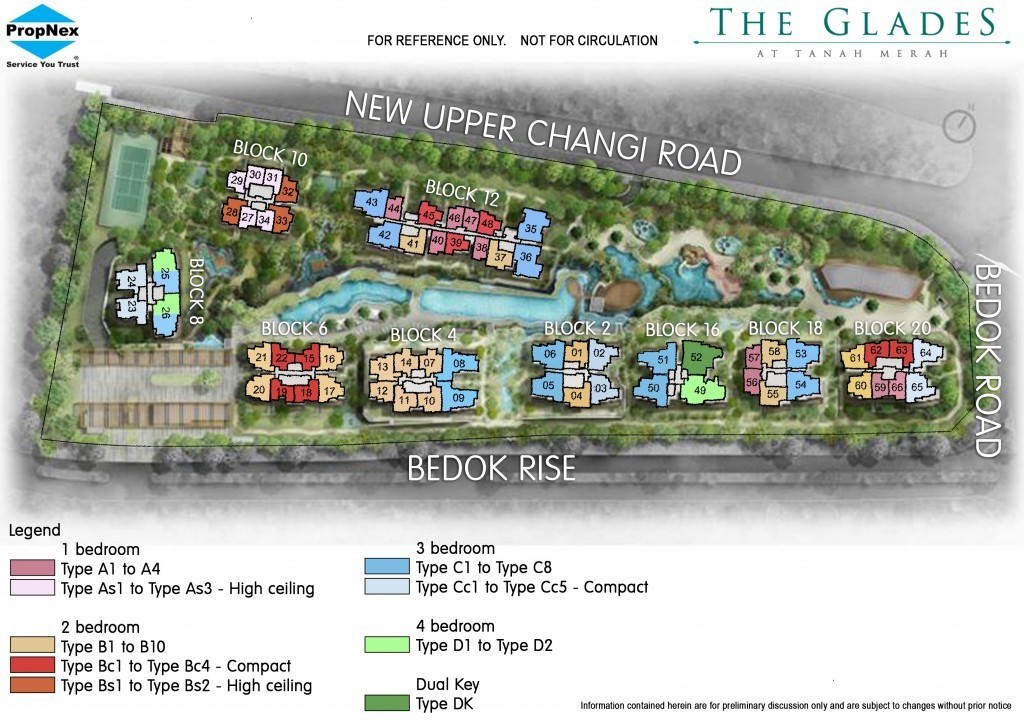 Condo Site with bedroom distribution plan | The Glades | Condosingapore