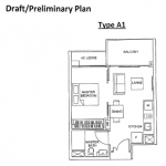 The Glades floor plans for 1 bedroom