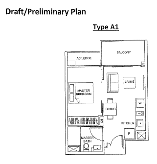 The Glades@Tanah Merah floor plans for 1 bedroom