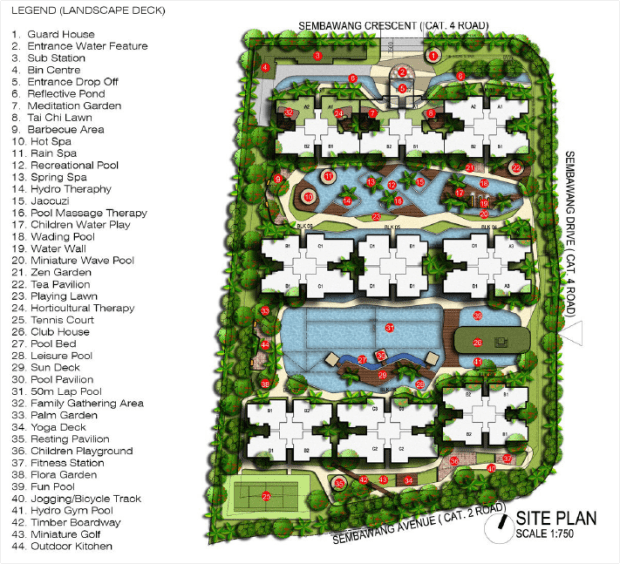 SkyPark Residences EC  | Site plan and location | near to Sembawang MRT
