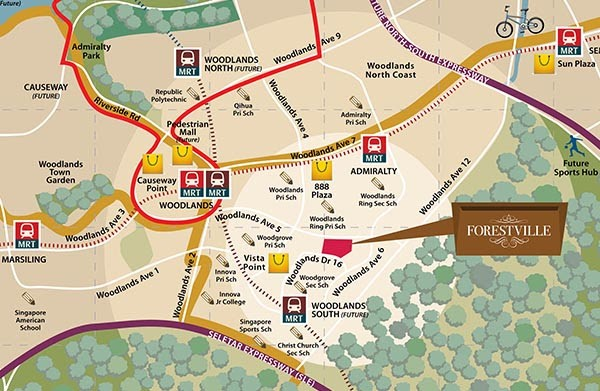 Forestville Site Map