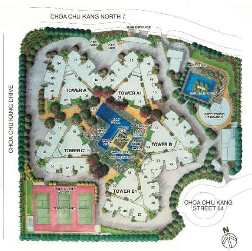 Condo site plan | Regent Grove | CondoSingapore