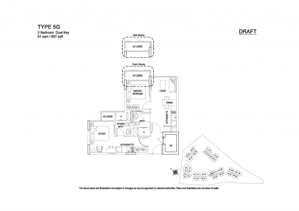 Hillford 2 Bedroom Dual Key floorplan
