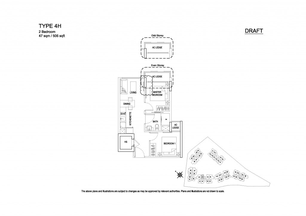Hillford 2 Bedroom floor plan