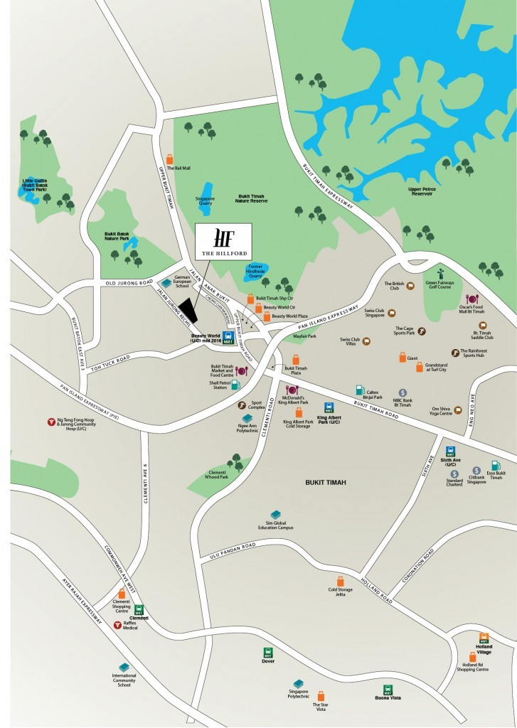Site map of Hillford at jalan jurong kechil- new launch retirement resort