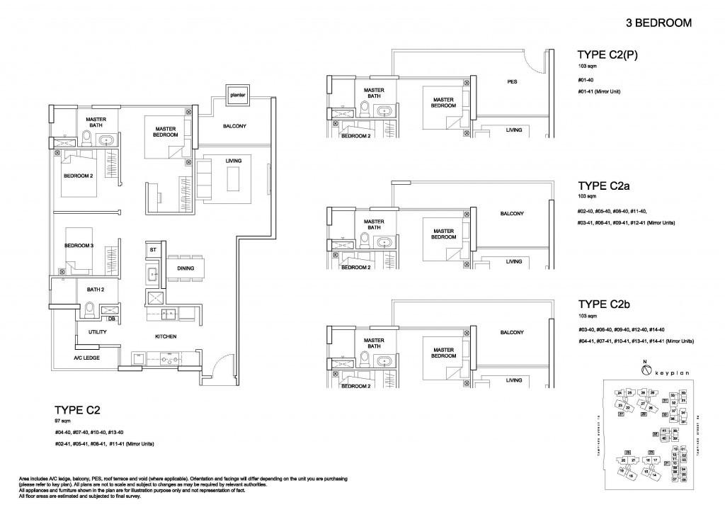 Santorini Floor Plan | 3 bedroom
