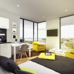 The Quarter at Liverpool | Studio Apartment | Student Accommodation Living Room