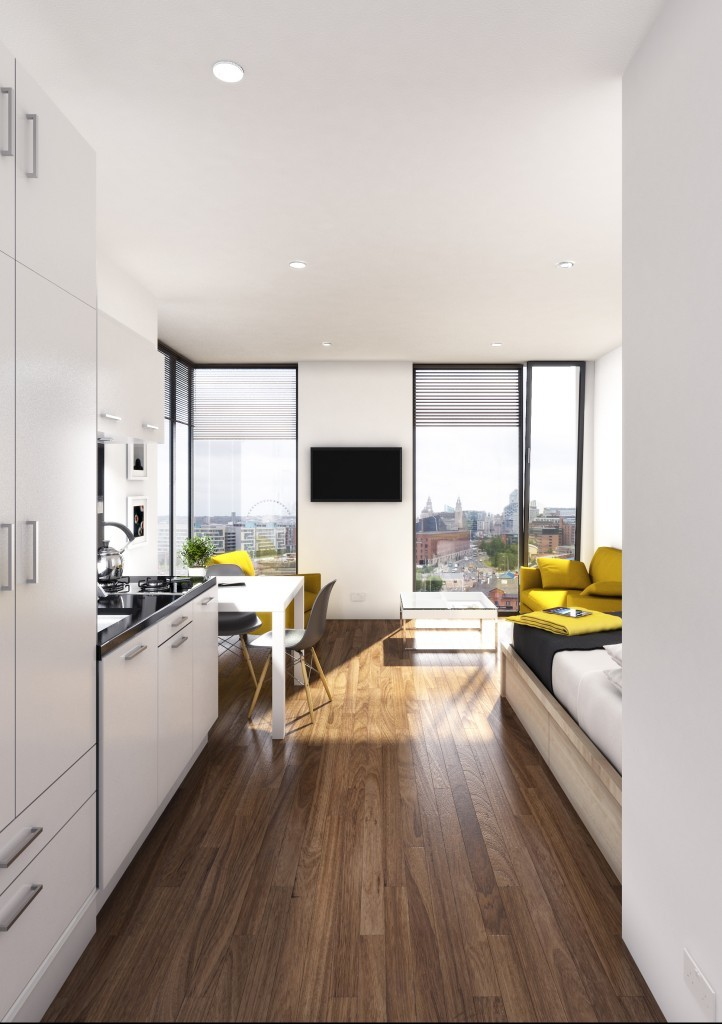 The Quarter at Liverpool | Studio Apartment | Liverpool Apartment- Living Room Layout