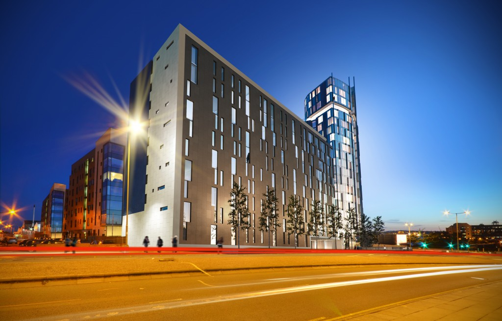 The Quarter at Liverpool | Studio Apartment | Student Accommodation- Dusk