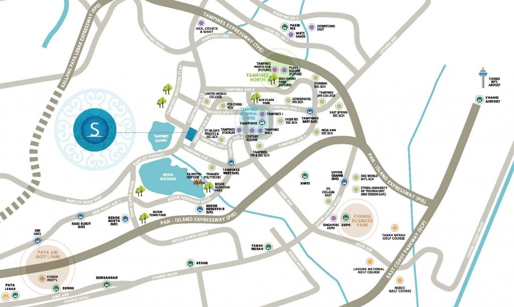 The Santorini at Tampines Location Map