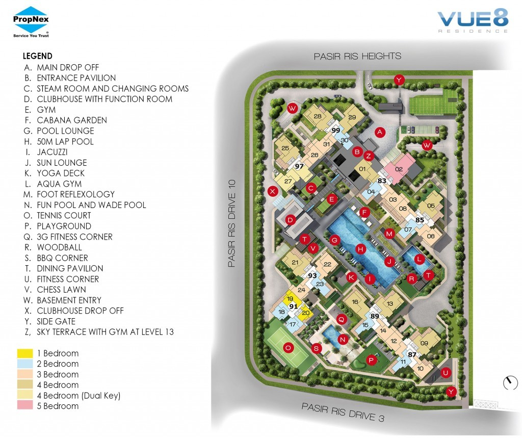 Vue 8 Residence new launch condo Singapore Site Plan.