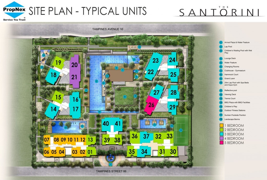 Santorini Site Plan | Tampines Ave 10
