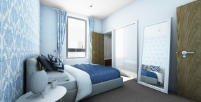 Bedroom of Exchange Quays@Manchester UK
