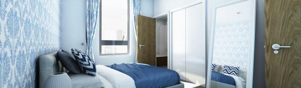 Bedroom of Exchange Quays@Manchester UK