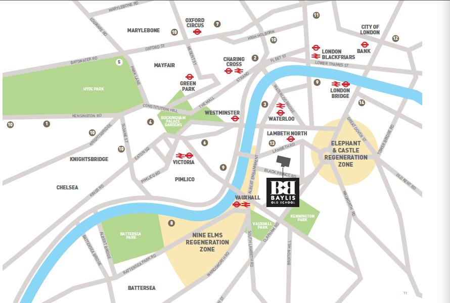 Site Plan of Baylis Old Boys UK London Property.