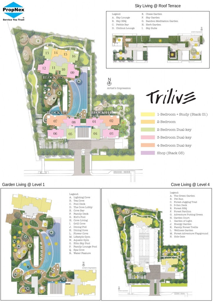 Site Map, Floor Plan and Location of Trilive