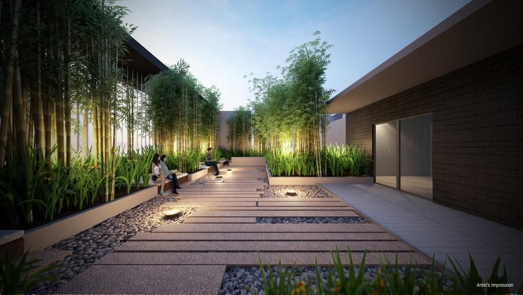 Trilive condo Bamboo Meditation Garden, Herb Garden
