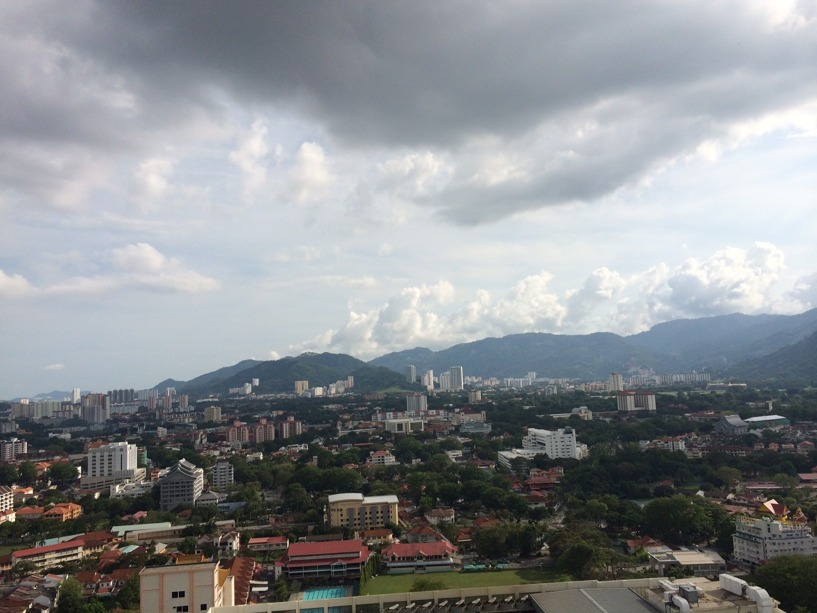 Panoramic view from one of the actual units in Mansion One Penang Malaysia.