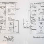 Amore Executive Condo typical 4 Bedroom floor plan