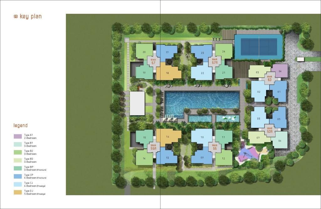 Site & Floor Plan of Amore EC