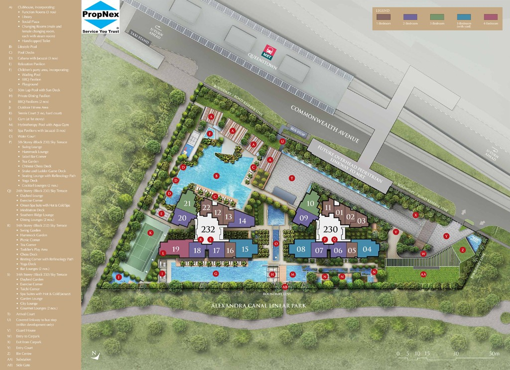 Commonwealth Towers Site plan & Floor plan details.