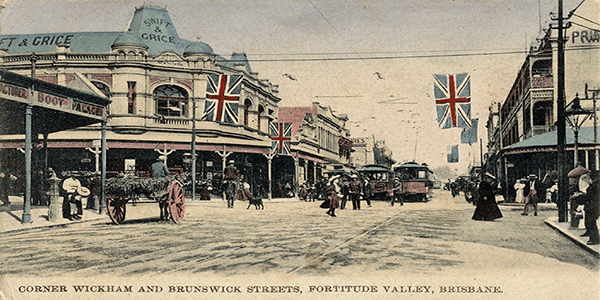Wickham Street at Fortitude Valley.