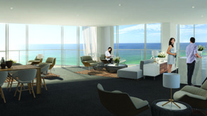 Exclusive residents' lounge and private function area, wi-fi equipped.