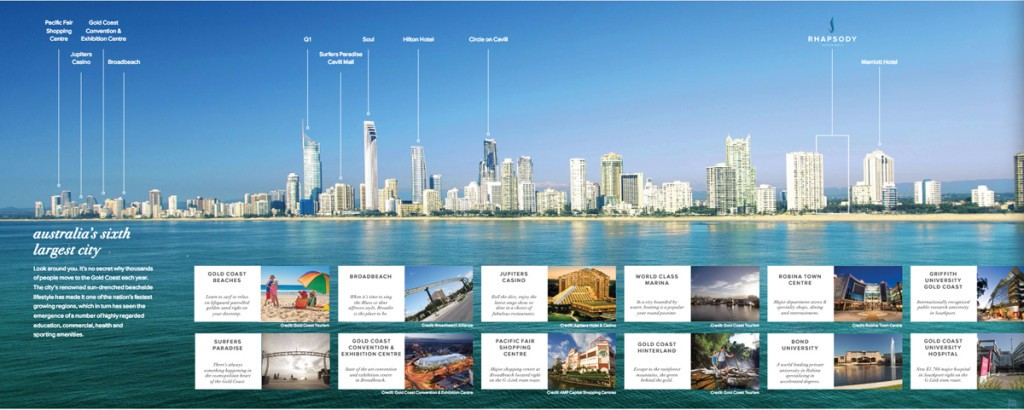 Rhapsody Real Estate Australia- Gold Coast homes for sales. Properties and developments