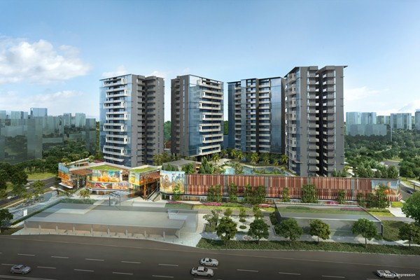 the Poiz Residences at POTONG PASIR MRT aerial view.
